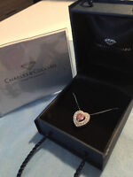 Charles and Colvard Moissanite Necklace Silver BRAND NEW !