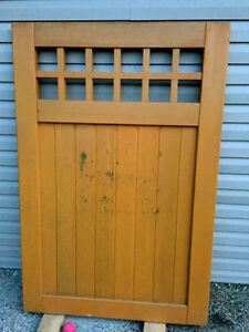High End Solid Wood Gate - Never Installed