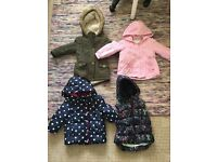 4 x age 3-4 girls winter coats