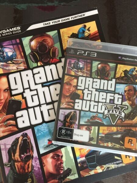 PS3 Grand Theft Auto Five Game and Book GTAV | Video Games | Gumtree