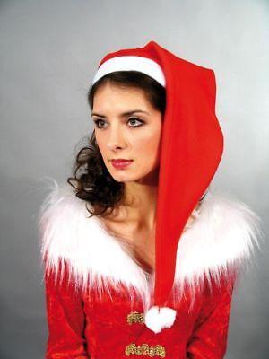 Nikolaus Zipfelmütze rot lang Weihnachtsmann Mütze Advent Weihnachten Karneval