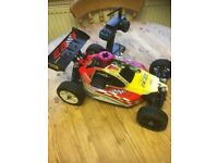 rc nitro thunder tiger eb4 1/8 buggy