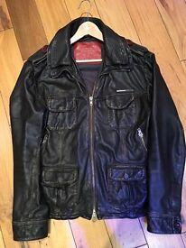 Superdry Leather jacket L