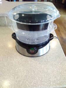 Two tier digital food steamer
