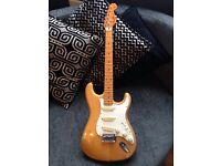 Fender stratocaster squire natural wood finish