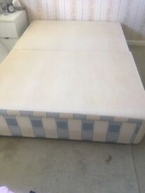 Double bed with drawers and mattress