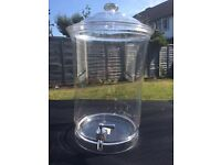 12 litre Clear Perspex drinks dispensers x 2