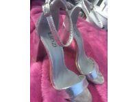 Silver linzi shoes