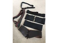 Seven ladies belts (4 x leather and 3 elasticated)