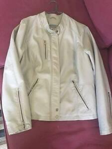 Faux Leather Jacket (Grey)