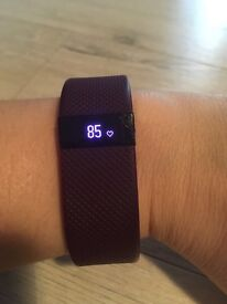 Fitbit Charge HR - purple S - heart rate