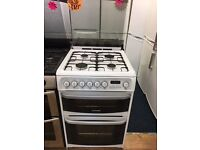 CANNON 60CM DUAL FUEL COOKER IN WHITE WITH LID
