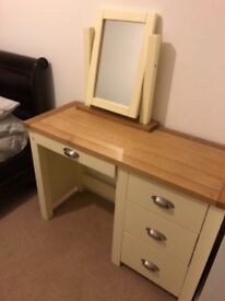 Somerset Solid Oak Dressing Table and Mirror