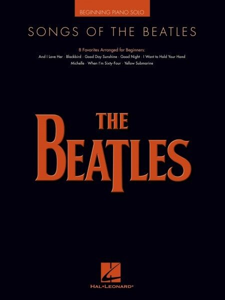 Songs of the Beatles Sheet Music Beginning Piano Solo SongBook NEW 000307153