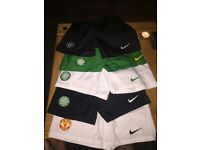 Boys Celtic and Man U shorts aged 5-6