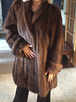 3/4 length Mink coat - rarely worn, approximately size 8 - 10