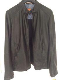 Boss Orange Men's Jelon Leather Jacket