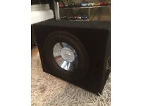 Jensen car subwoofer amplifier (sub amp stereo active bass box)