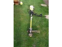 RYOBI PETROL GRASS STRIMMER WITH STRAP WORKS GREAT CAN BE SEEN WORKING CB5 £55
