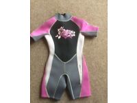 Girls wetsuit age 3-4years