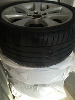 High performance run flat sport summer rims and tires (BMW)