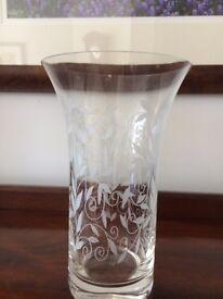 Etched glass Vase - Laura Ashley
