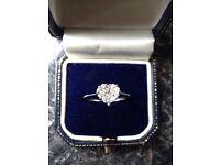 Beautiful heart shaped diamond cluster ring