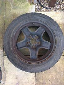 Zafira - full sized spare wheel