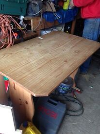 Pine table and bench