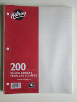 Hilroy Ruled Sheets Package of 200