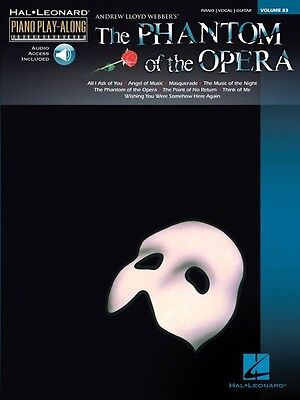 Phantom of the Opera Sheet Music Piano Play-Along Book and Audio NEW 000311903
