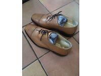 Brown leather Samuel Windsor shoes