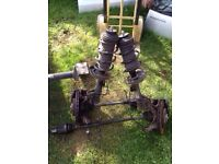 Corsa d sxi 2008 1.2 x1 drivers side suspension leg with hub complete 07594145438