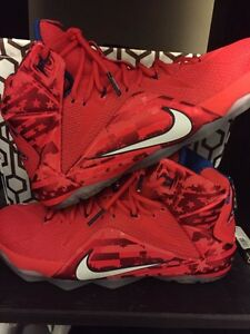 Lebron 12 4th of July size 10.5