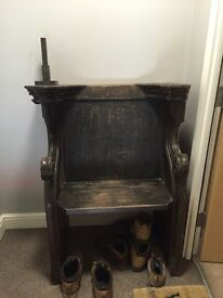 Antique church chair