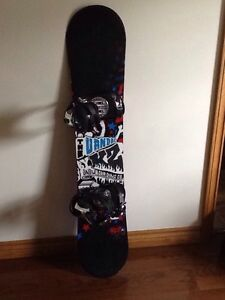 137 cm K2 snowboard w/ boots and bindings