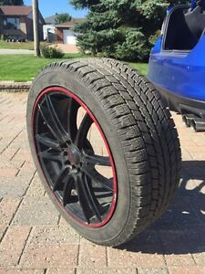 Winter tires with rims for sale, perfect condition!!