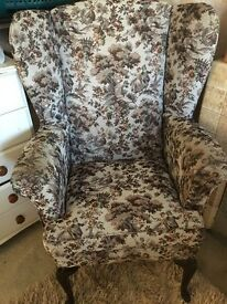 Very comfortable wing back chair!