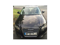 EXCELLENT CONDITION AUDI A3 1.9 TDI E IN STUNNING BLACK. 1 OWNER FROM NEW