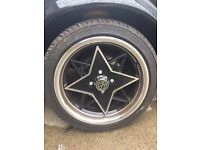 VW alloys with tyres good tred