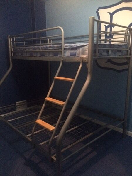 double & single bunk bed