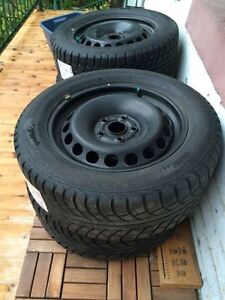 Winter tires on rims 215/55/R16 great condition.