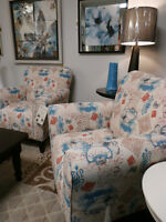 Turquoise Arm Chairs