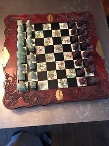 Soapstone Asian themed chess set Peterborough Peterborough Area image 2