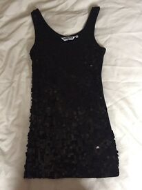 Girls black sequinned top from New Look, age 10-11
