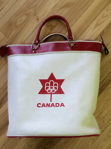 MONTREAL OLYMPICS 1976 VINTAGE SPORT BAG LEATHER TENNIS
