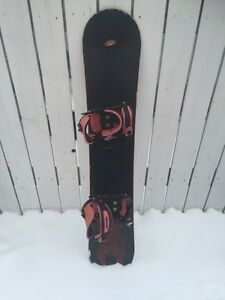 Snowboard with bindings, 145cm. LTD DARE BRAND.