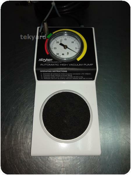 STRYKER 0206-500-000 AUTOMATIC HIGH VACUUM FOOT PUMP ! (240134)
