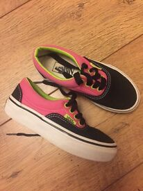 Vans for girls, great condition size10, collection from Norwich