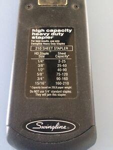 High Capacity Stapler Swingline 210 sheets 90002 Kitchener / Waterloo Kitchener Area image 2